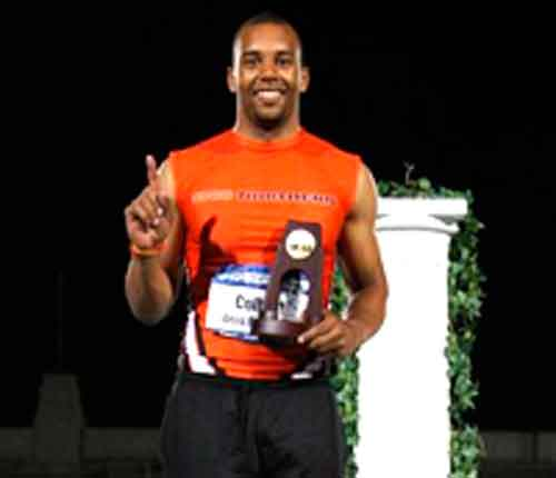 ONU senior Josh Colbert won the national championship in the long jump at the NCAA III Championships on Thursday at Selby Stadium on the campus of Ohio Wesleyan. (Photo submitted)