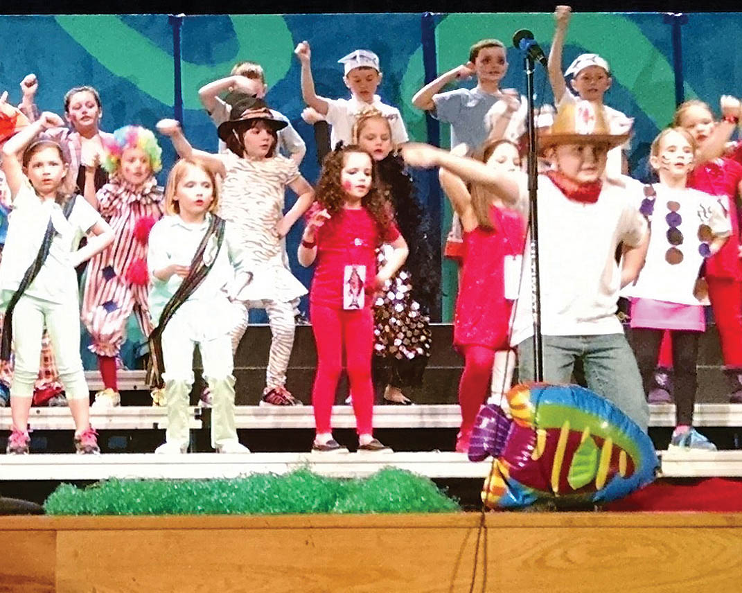 Ada first graders reel in audience with 'Go Fish'